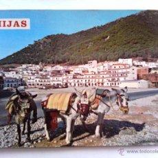 Postales: POSTAL MIJAS - VISTA TIPICA - BURRO TAXI - CIRCA 1970. SIN CIRCULAR. Lote 49862452
