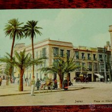 Postales: JEREZ (CADIZ) PLAZA DE ALFONSO XII, HAMBURG, SERIE 712 Nº 16, SIN CIRCULAR. Lote 50031662