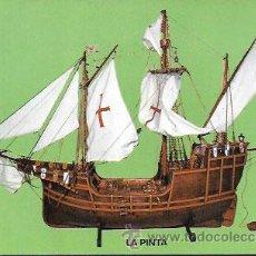 Cartoline: POSTAL * MONASTERIO STA. MARIA DE LA RABIDA , MAQUETA CARABELA LA PINTA *. Lote 50048852