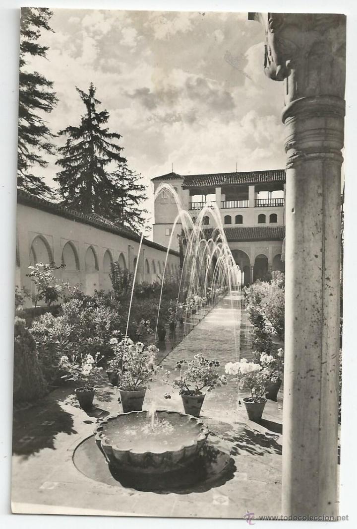 POSTAL GRANADA - GENERALIFE, PATIO DE LA ACEQUIA - ZERKOWITZ (Postales - España - Andalucia Moderna (desde 1.940))