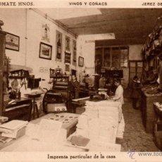 Postales: BODEGAS SANCHEZ ROMATE HNOS. JEREZ VINOS Y COÑAC,IMPRENTA PARTICULAR DE LA CASA. Lote 50103545