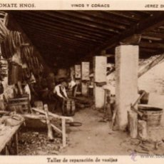 Postales: BODEGAS SANCHEZ ROMATE HNOS. JEREZ VINOS Y COÑAC, TALLER DE REPARACION DE VASIJAS. Lote 50103593