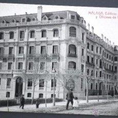 Postales: POSTAL DE MÁLAGA: EDIFICIO DE LA DIRECCIÓN Y OFICINAS DE LOS F. C. ANDALUCES. FOTOTIPIA THOMAS. Lote 50161529