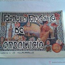 Postales: PORTAFOLIO FOTOGRAFICO DE VILLACARRILLO, JAEN Nº 25 A. MARTIN EDITOR CUADERNILLO CON FOTOS ANTIGUAS. Lote 50969061