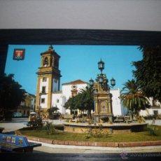 Postales: POSTAL Nº 89 ALGECIRAS ( CADIZ ) PLAZA ALTA AL FONDO IGLESIA PARROQUIAL -ESCUDO ORO - SIN CIRCULAR -. Lote 51034146