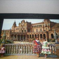 Postales: POSTAL 117. SEVILLA , PLAZA DE ESPAÑA , MUCHACHAS TIPICAS - SIN CIRCULAR - . Lote 51035123