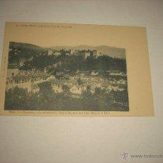 Postales: GRANADA 51, LA ALHAMBRA Y SIERRA NEVADA DESDE SAN MIGUEL EL BAJO , A. LINARES FOT.. Lote 51130497