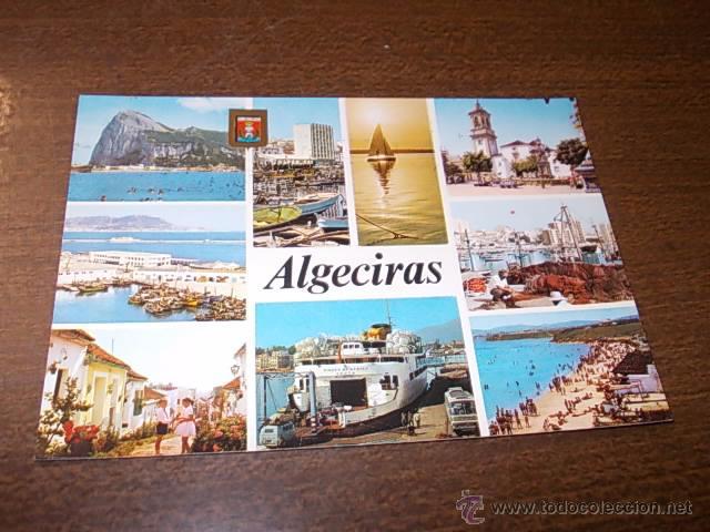 ALGECIRAS DIVERSOS ASPECTOS, CIRCULADA 7-7-74, SUBIRATS CASANOVAS (Postales - España - Andalucia Moderna (desde 1.940))
