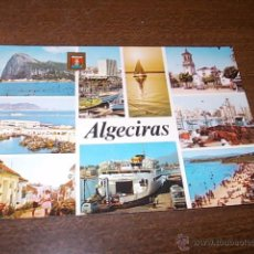 Postales: ALGECIRAS DIVERSOS ASPECTOS, CIRCULADA 7-7-74, SUBIRATS CASANOVAS. Lote 51225569