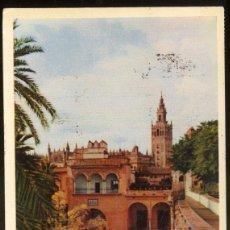 Postales: 27 - SEVILLA.- REALES ALCAZARES.- LA GIRALDA DESDE LOS RR. ALCAZARES.. Lote 51451858