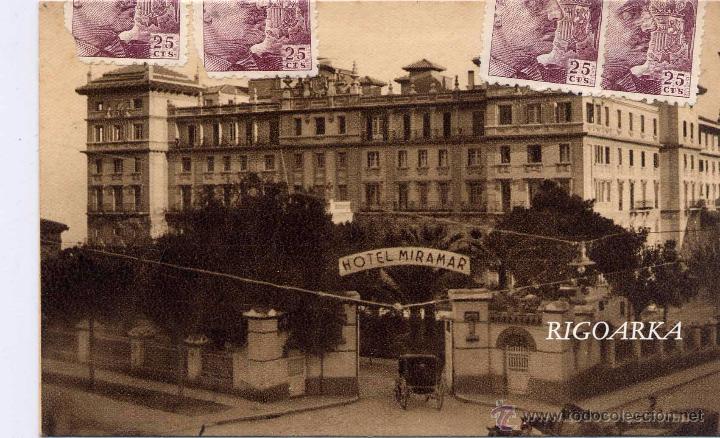 MÁLAGA.- HOTEL LIMONAR (Postales - España - Andalucía Antigua (hasta 1939))