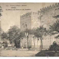 Postales: JEREZ .- ALAMEDA DE FORTUN DE TORRES .- EDICION HAUSER MENET Nº 1553 .- CON SELLO BORINES AGUA . Lote 51699266