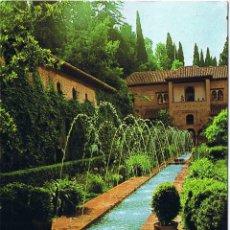 Postales: GRANADA - GENERALIFE - JARDINES ALTOS - CIRCULADA. Lote 51736465