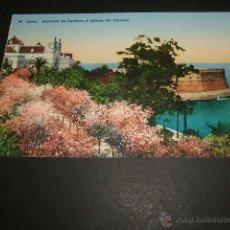Postales: CADIZ ALAMEDA DE APODACA E IGLESIA DEL CARMEN. Lote 51789185