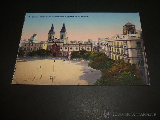 CADIZ PLAZA DE LA CONSTITUCION E IGLESIA DE SAN ANTONIO (Postales - España - Andalucia Moderna (desde 1.940))