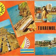 Postais: MALAGA - TORREMOLINOS - VISTAS DIVERSAS - CIRCULADA. Lote 51807300