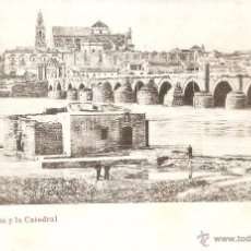 Postales: CÓRDOBA - EL PUENTE Y LA CATEDRAL REVERSO SIN DIVIDIR SIN CIRCULAR . Lote 51885795