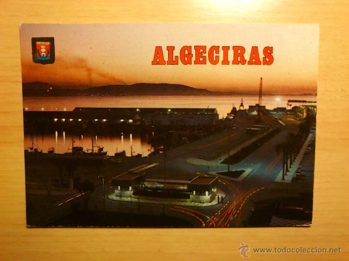 ALGECIRAS - CADIZ - VISTA NOCTURNA DEL PUERTO - 184 SUBIRATS CASANOVAS (Postales - España - Andalucia Moderna (desde 1.940))