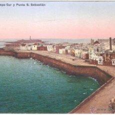 Postales: CÁDIZ CAMPO SUR Y PUNTA SAN SEBASTIÁN. Lote 2991922