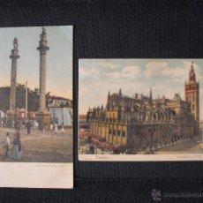 Postales: SEVILLA CATEDRAL Y ALAMEDA DE HERCULES DE 1900. Lote 52405073