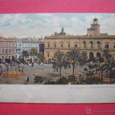 Postales: SEVILLA AYUNTAMIENTO Y PLAZA DE SAN FERNANDO- SOBRE 1900-. Lote 52407522