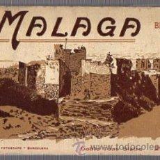 Postales: BLOC POSTAL MALAGA. Nº 2. 20 VISTAS. DOBLE TONO BISTRE. L. ROISIN. Lote 52414020