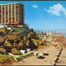Postales: 1593- TORREMOLINOS (COSTA DEL SOL).- HOTEL Y PLAYAS DE LA ROCA. Lote 52481386