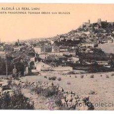 Postales: JAEN ALCALA LA REAL VISTA PANORAMICA TOMADA DESDE SAN MARCOS. H Y M. FOT. LOPEZ SIN CIRCULAR. Lote 52690119
