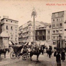 Postales: MALAGA, PLAZA DE LA CONSTITUCION, FOTOTIPIA THOMAS, MUY RARA. Lote 52904999