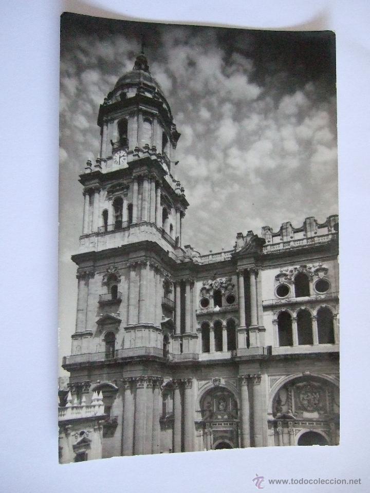 POSTAL MALAGA - CATEDRAL - FACHADA PRINCIPAL - ARRIBAS 1008 - SIN CIRCULAR (Postales - España - Andalucia Moderna (desde 1.940))