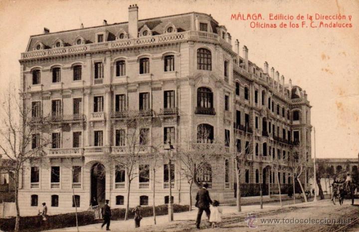 POSTAL DE MALAGA-EDIFICIO DE LA DIRECCION Y OFICINAS DE LOS F.C.ANDALUCES (Postales - España - Andalucía Antigua (hasta 1939))