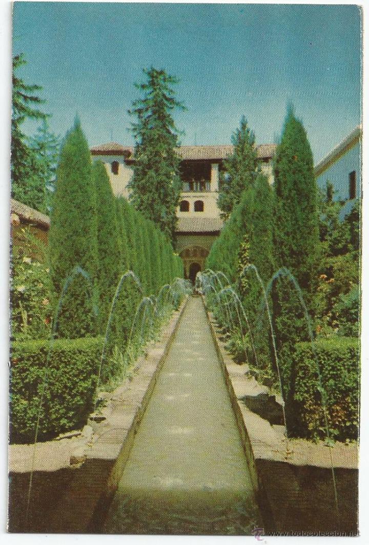 POSTAL GRANADA - GENERALIFE, PATIO DE LA ACEQUIA - ED. P. SUAREZ (FOTO TAYLOR) (Postales - España - Andalucia Moderna (desde 1.940))