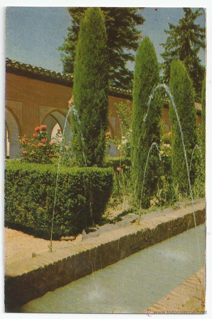 POSTAL GRANADA - GENERALIFE, JARDINES - ED. P. SUAREZ (FOTO TAYLOR) (Postales - España - Andalucia Moderna (desde 1.940))