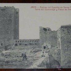 Postkarten - JAÉN, RUINAS DEL CASTILLO SANTA CATALINA, TORRE DEL HOMENAJE Y PLAZA DE ARMAS, Ed. Cañada, Flórez y - 53077726