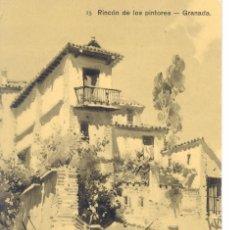 Postales: POSTAL ILUSTRADA DE GRANADA.15.- RINCÓN DE LOS PINTORES. FIRMADO POR SÁDABA.. Lote 53117639