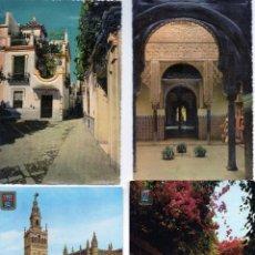 Postales: SEVILLA 6 POSTALES DE LOS AÑOS 50 Y 60 DOS DE ELLAS EN RELIEVE. VER DESCRIPCION. Lote 53139615