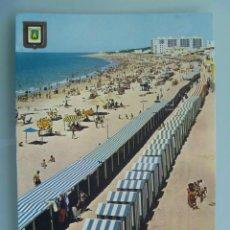 Postales: POSTAL DE ROTA ( CADIZ ) : PLAYA DE LA COSTILLA, CIRCULADA CON SELLO DE FRANCO.... Lote 53145621