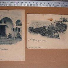 Postales: TORRE DE LA VELA Y CIUDAD- (AHAMBRA) UN PATIO ARABE. HAUSER Y MENET - 172 - 675. Lote 53186113