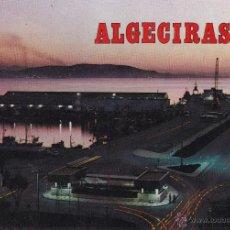 Postales: ALGECIRAS Nº 184 VISTA NOCTURNA DEL PUERTO CIRCULADA 2/8/88 FOTO SUBIRATS CASANOVAS. Lote 53223688
