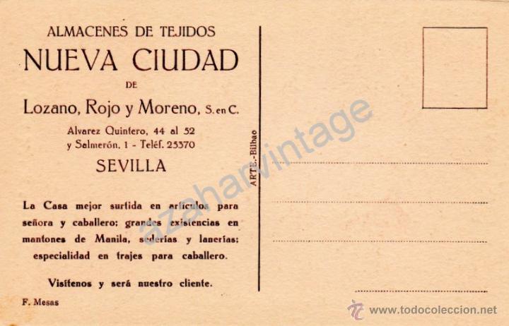 Postales: POSTAL PUBLICITARIA ALMACEN DE TEJIDOS NUEVA CIUDAD, UNA PARTE DE LA TIENDA,MUY RARA - Foto 2 - 53281754