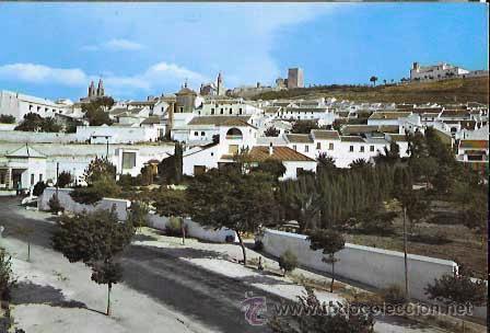 SEVILLA ESTEPA PANORAMICA DE LA CIUDAD EXC. VILLA DE MADRID. CIRCULADA (Postales - España - Andalucia Moderna (desde 1.940))