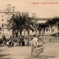 Postales: POSTAL DE HUELVA - PLAZA DE LA MERCED - N. 6 - ED. PAPELERIA M. MORA Y COMP. Lote 53420851
