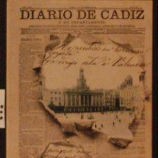 Postales: DIARIO DE CADIZ - ILUSTRADA - CIRCULADA Y DORSO DIVIDIDO. Lote 53439555