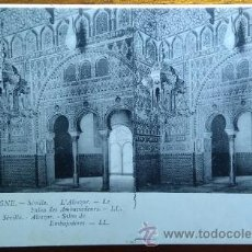 Postales: POSTAL ESTEREOSCOPICA SALON DE LOS EMBAJADORES SEVILLA EDITOR LL.. Lote 53503137