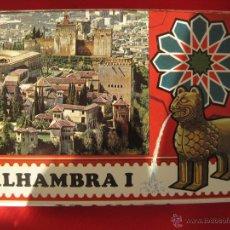 Postales: GRANADA-ALHAMBRA I--KOLOR ZERKOWITZ--LIBRILLO 10 POSTALES . Lote 53756346