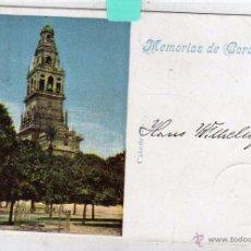 Postales: MEMORIAS DE CÓRDOBA. CATEDRAL. POSTAL CIRCULADA EN EL SIGLO XIX 1899. Lote 53951226