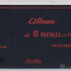 Postales: ALBUM DE 10 POSTALES EN FOTOCOLOR MATRIZADAS-SEVILLA-1950. Lote 54062800