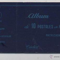 Postales: ALBUM DE 10 POSTALES EN FOTOCOLOR MATRIZADAS-CADIZ-1950. Lote 54063393