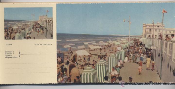 Postales: ALBUM DE 10 POSTALES EN FOTOCOLOR MATRIZADAS-CADIZ-1950 - Foto 2 - 54063393