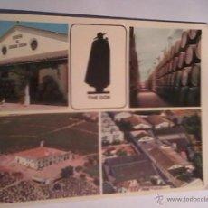 Postales: POSTAL. FIEN SHERRIES Y BRANDY CAPA NEGRA FROM SANDEMAN. JEREZ DE LA FRONTERA. CADIZ.. Lote 54090601